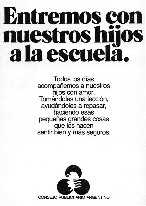 """""""Entremos con nuestros hijos a la escuela 2""""-1984"""