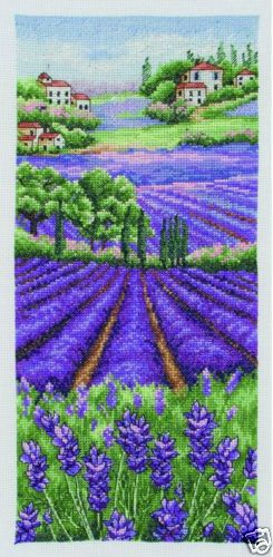 NEW-ARRIVAL-Provence-Lavender-Scape-Counted-Cross-Stitch-Kit-by-Anchor