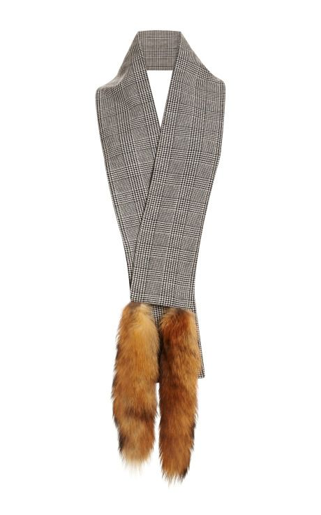 Wool and Fox Tails Scarf by Vanities Now Available on Moda Operandi
