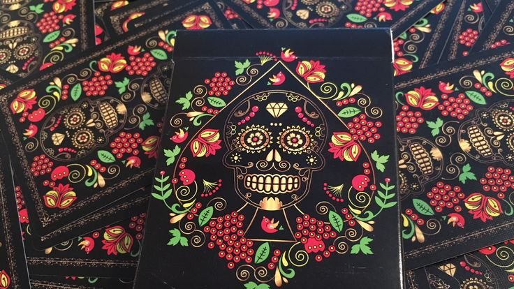 Image result for calaveras de azucar playing cards