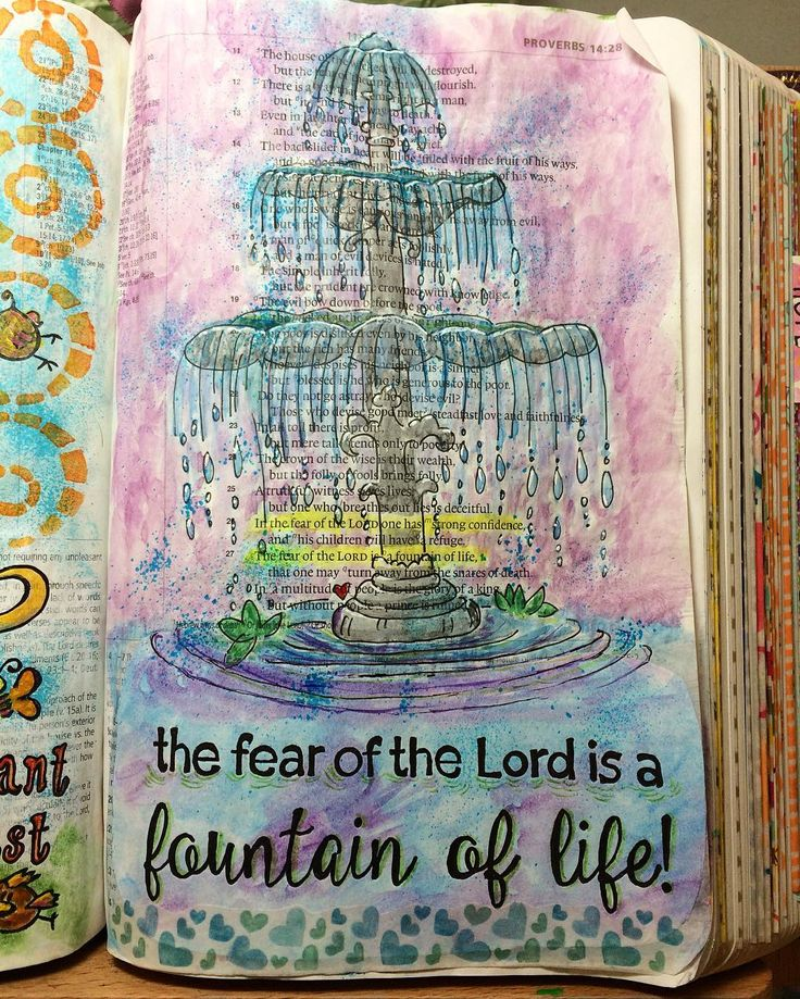 Proverbs 14:26-27 #bibleart #illustratedfaith #BibleJournalingCommunity #BibleJoy