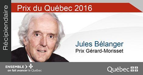 Le prix Gérard-Morisset (patrimoine) 2016 est attribué à Jules Bélanger. Prêtre, pédagogue et citoyen engagé, il reçoit ce prix en raison de l'immense travail qu'il a accompli pour la reconnaissance du patrimoine culturel québécois, plus particulièrement celui de la Gaspésie. L'une des réalisations les plus impressionnantes de M. Bélanger est la publication, en 1981, de la monumentale Histoire de la Gaspésie... #PrixduQuébec
