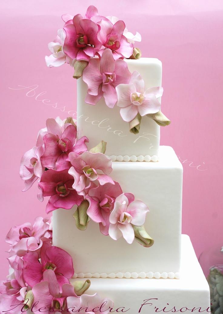 cake wedding cake orchids wedding cakes beautiful cake cake art