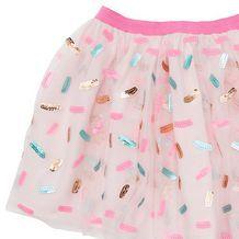 SISTA Confetti Sequin Mesh Skirt