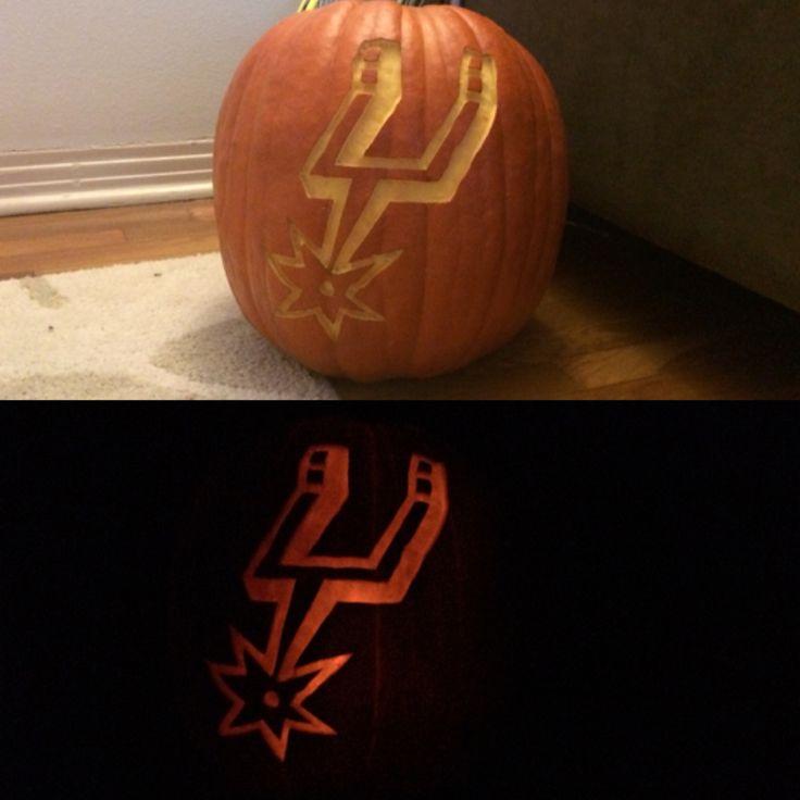 Spurs NBA Basketball Halloween Pumpkin Carving.