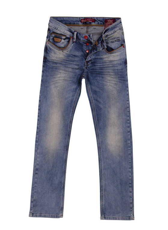 - Knoops-sluiting - modieuze heren Jeans - met 4 steekzakken  - Achter 2 zakken - materiaal is van hoogwaardig strech katoen en zorgt voor een comfortabel draaggevoel. - Normale pasvorm -100 % Denim katoen  De jeans en spijkerbroeken die Wam Denim produceren,worden altijd van hoogwaardig katoen en stretch gemaakt. Hierdoor geeft dit een comfortabel draag gevoel. Wij krijgen idere 2 weken nieuwe collectie Italiaanse spijkerbroeken van Pascucci jeans en Wam Denim binnen.