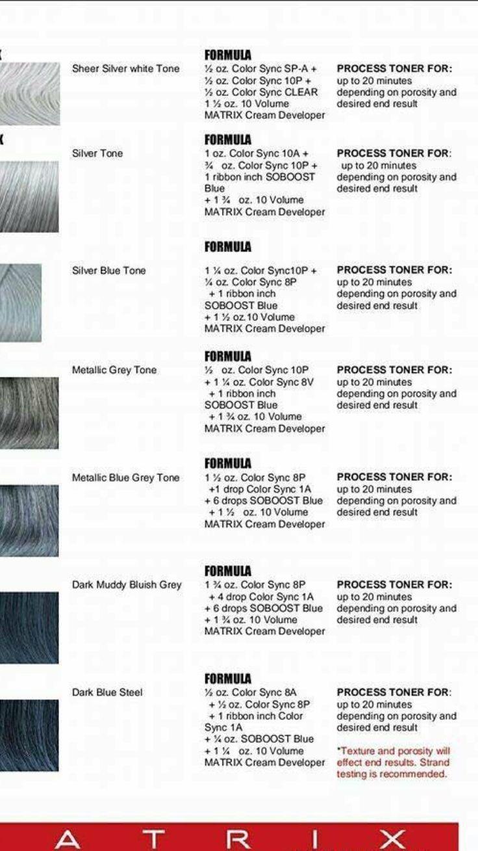 Matrix Hair Color Formulas Matrix Hair Color Matrix Hair