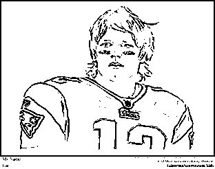 Tom Brady Coloring Pages New England Patriots Coloring