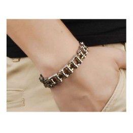 Stainless Steel Biker Chain Bracelet