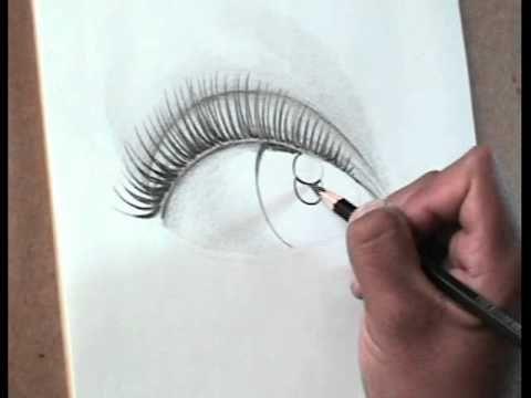 TÉCNICAS DE DIBUJO PROFESIONAL. Dibujar un ojo femenino. Comentado paso ...
