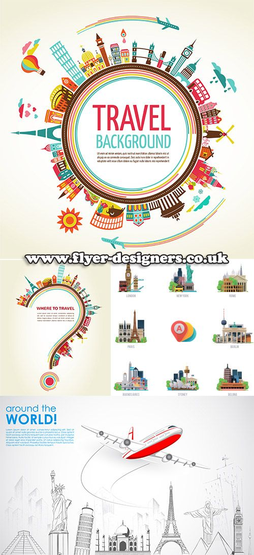 travel graphics suitable for tourism leaflets www.flyer-designers.co.uk #travel #citygraphics #tourismleaflets
