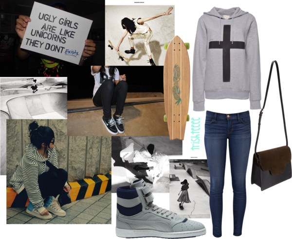 """""""skater girl outfit"""" by trishteeee on Polyvore"""