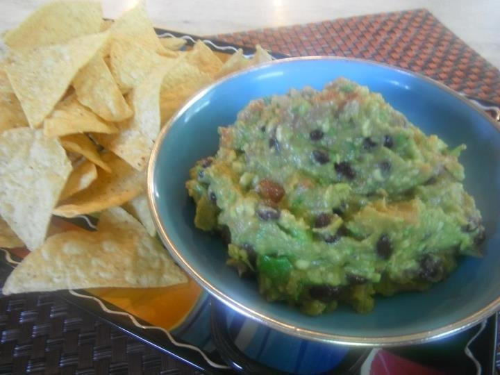 Black Bean-Roasted Garlic Guacamole | Recipes | Pinterest