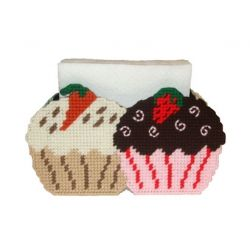 Gourmet Cupcakes Napkin Holder Plastic Canvas Pattern