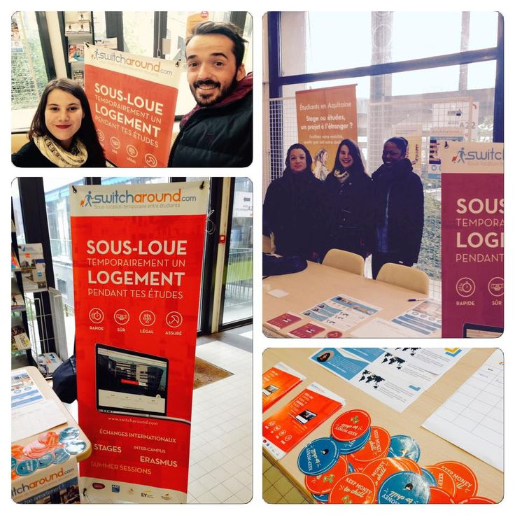 Switcharound à l'université de Bordeaux pour la semaine internationale ! #étudiant #switcharound #sous-location #bordeaux