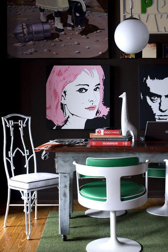 A Pop Art Salon Wall in the
