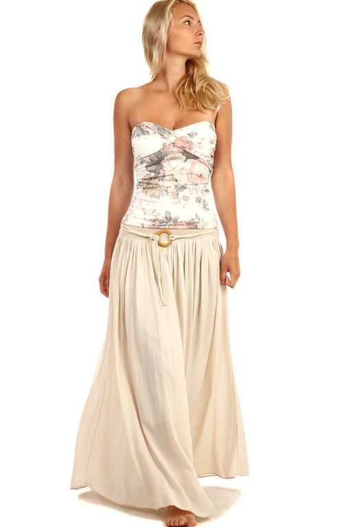 bc8f2c11a5a5 Dámská dlouhá jednobarevná maxi sukně