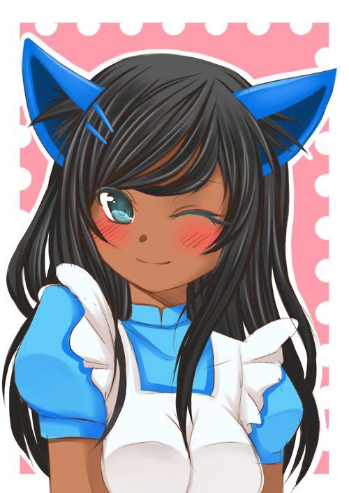 Neko Black neko Dark skinned neko Black Anime Girl Character