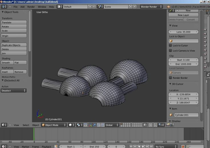 Learning to 3D model for print with Blender  by jasonwelsh.
