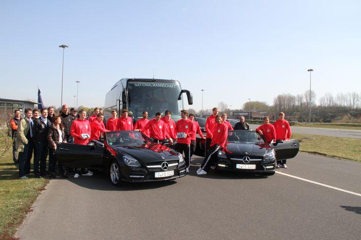 Deutsche Fußballnationalmannschaft / ADAC Fahrsicherheitszentrum Grevenbroich #Mercedes #Fußball