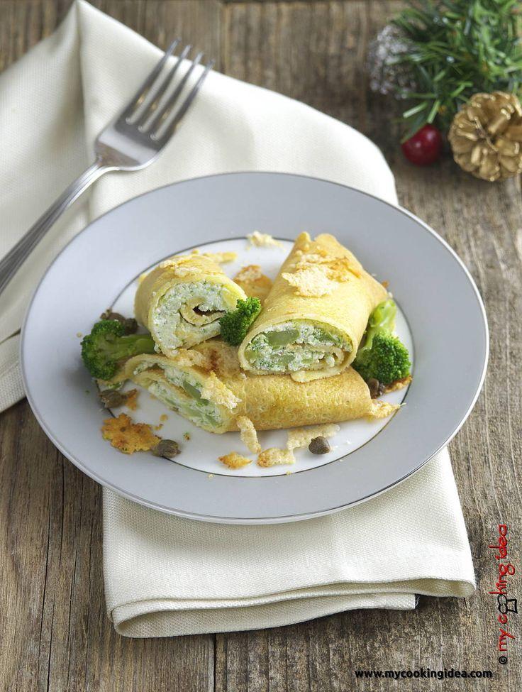 Crespelle di mais con ricotta e broccoli, ricetta