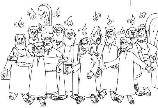 Pentecost day coloring pages|Days of pentecost coloring page 2015