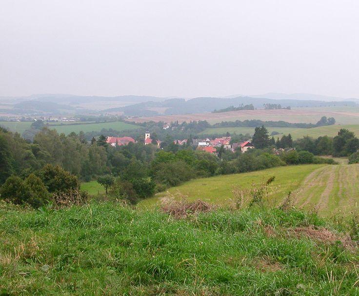 Louňovice pod Blaníkem from the edge of Velký Blaník(Central Bohemia), Czechia