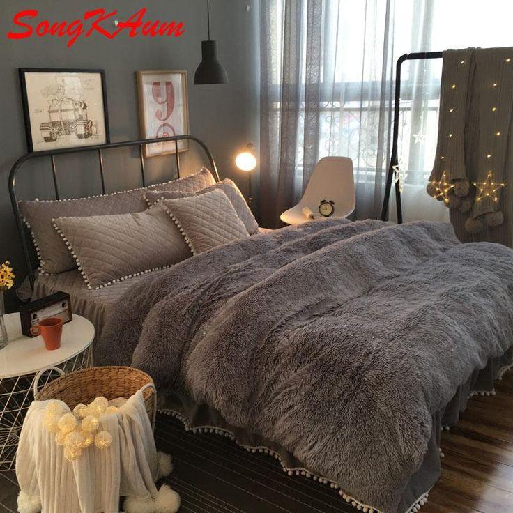 European Royal Mink Velvet Bedding Sets Super Warm Solf Winter Crystal Velvet Duvet Cover Bedclothes Bed Sheet Queen King Size Affordable Bedding Sets Modern Duvet From Wenglianbo, $297.49| Dhgate.Com