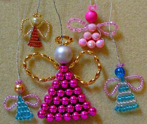 how to make a small angel | How to make little beaded angels