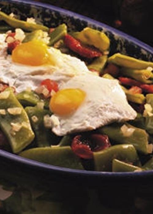 Feijão Verde com Ovos de Codorniz