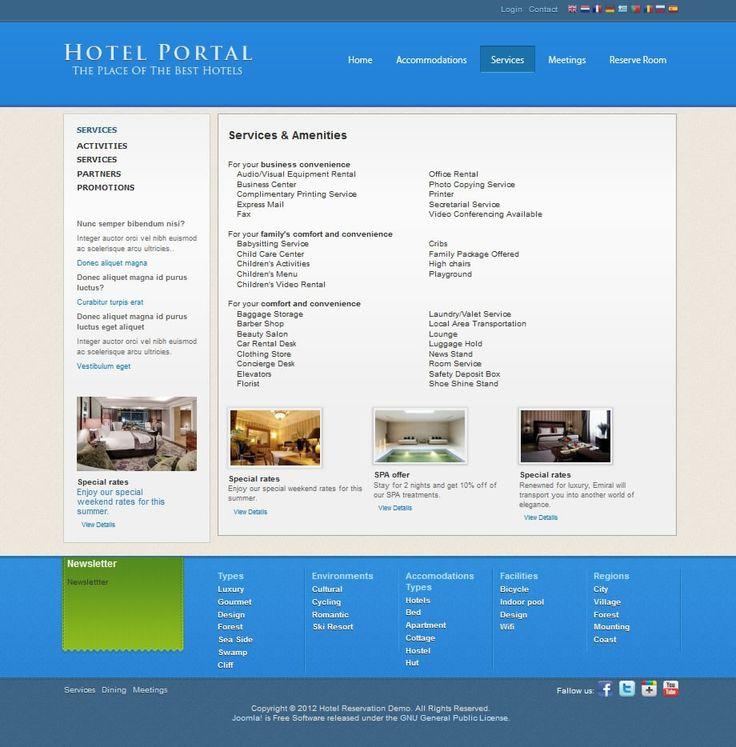 Joomla accommodation template J-HotelPortal - Joomla Templates - CMS Junkie