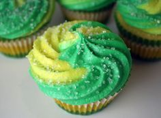 Mountain Dew cupcakes... Enhanced Duncan Hines yellow cake mix.... I have never understood the appeal of mountain dew. it's no sprite or dr. pepper.... but even if you like it.... gross. just ewwww.....