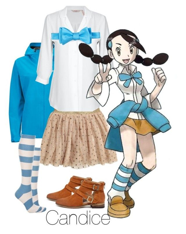 """Pokèmon Gym Leader Candice"" by iiserenaii ❤ liked on Polyvore featuring Marmot, Ike Behar and Chinese Laundry"