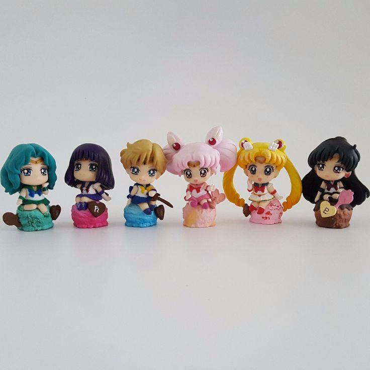 Sailor Moon Action Figure Candy Tsukino Usagi Sailor Mars PVC 50mm Collectible Model Sailor Moon Figure Toys