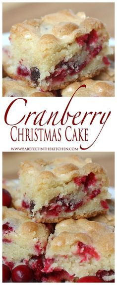 Barefeet In The Kitchen: Cranberry Christmas Cake