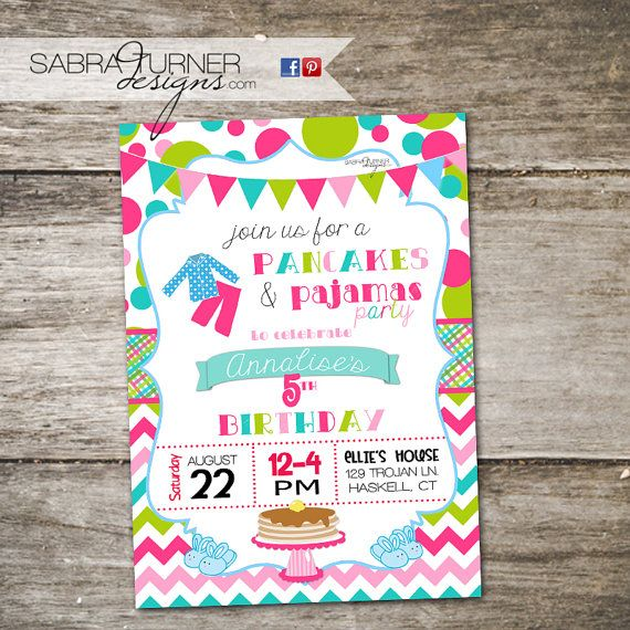 Pancakes and Pajamas Party Pancake Party by SabraTurnerDesigns