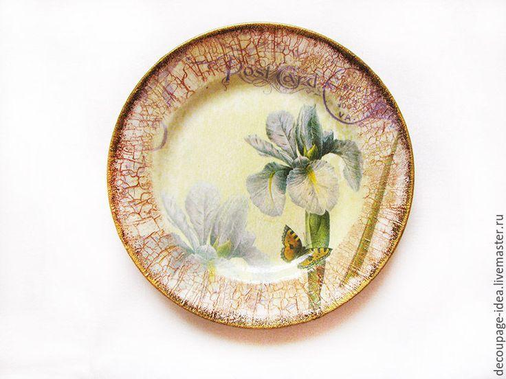 "Купить Тарелка ""Ирис"" - тарелка, декоративная тарелка, Настенная тарелка, тарелка сувенирная, подарочная тарелка"