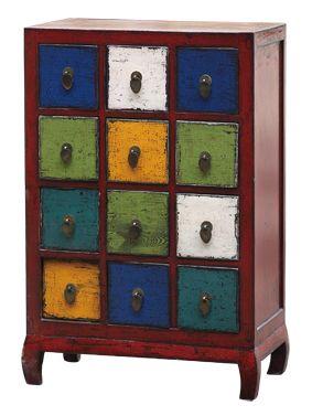 Wooden 12 Drawer Cabinet - Poppy's Home & Garden
