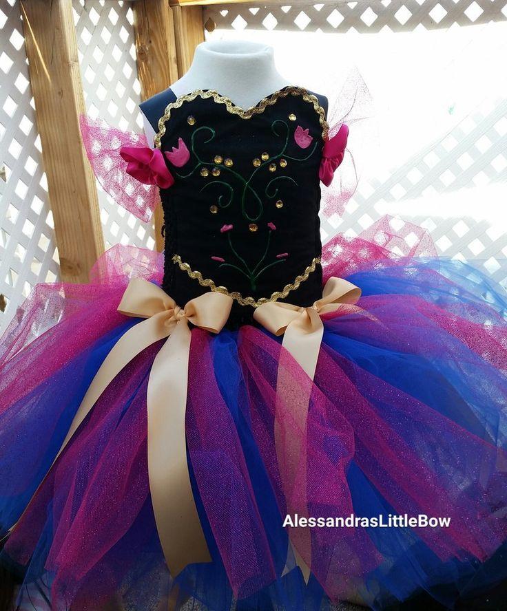 Princess Anna inspired tutu dress frozen birthday outfit disney princess tutu Halloween tutus costume