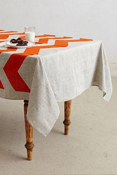 Chevron Tablecloth #anthropologie