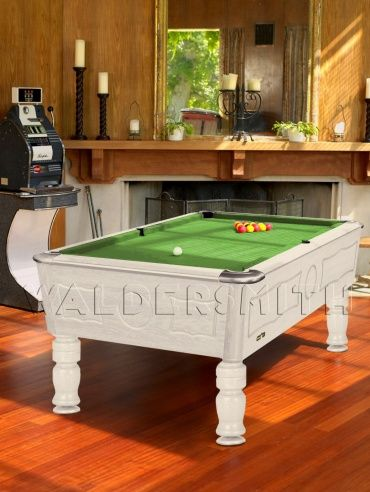 7ft Burlington English Pool Table - White Finish -  A strong build, sophisticated style and superb game-play all help cement the Burlington's status as a premier English pool table. It has been fully league approved by the British Association of Pool Table Operators and European United Kingdom Pool Federation, and is often used in BAPTO tournaments, EUKPF World Championships and European Championships.