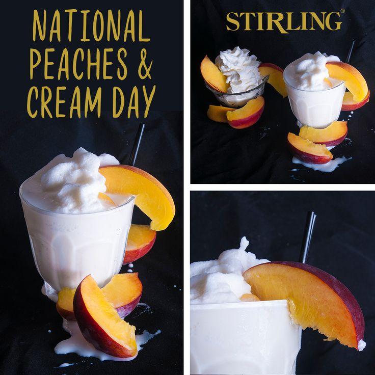 Peaches & Cream Frappe #StirlingFlavors #Recipes #Frappe #Blender #BlenderRecipe #Peach #Vanilla #PeachesandCream