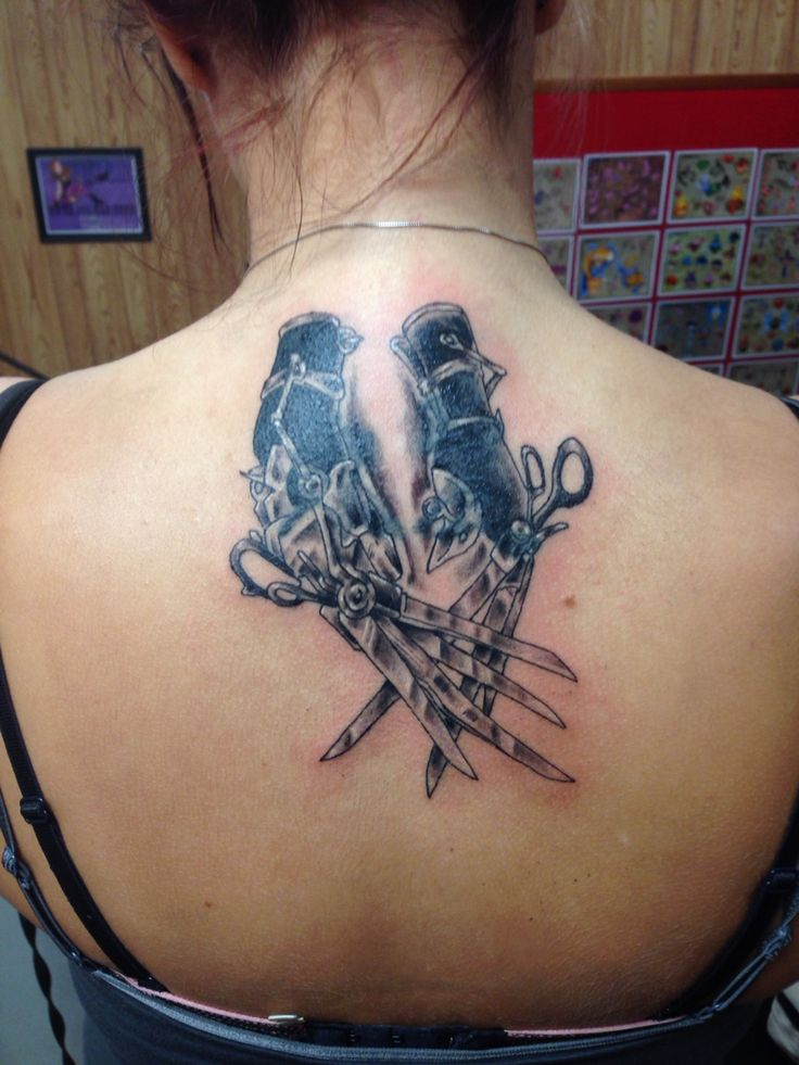 Edwardscissorhands tattoo coverup Tim Burton