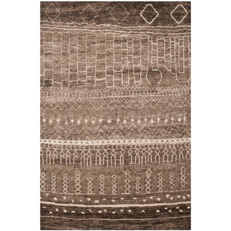 Tunisia Brown 6 ft. x 9 ft. Area Rug