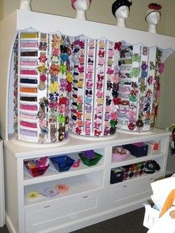 Hair Bow Storage. Holy cow!Ideas, Hair Bows Storage, Hairbows Storage, Organic Hairbows, Ultimate Hair, Hailey Hairbows, Storage I, Hair Accessories, Storage United