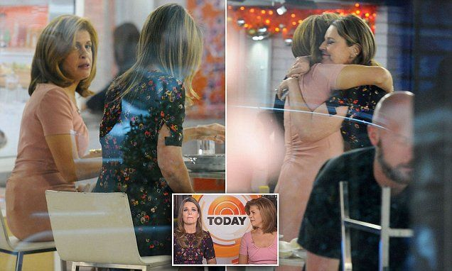 Today show hosts get choked up discussing Matt Lauer   Daily Mail Online