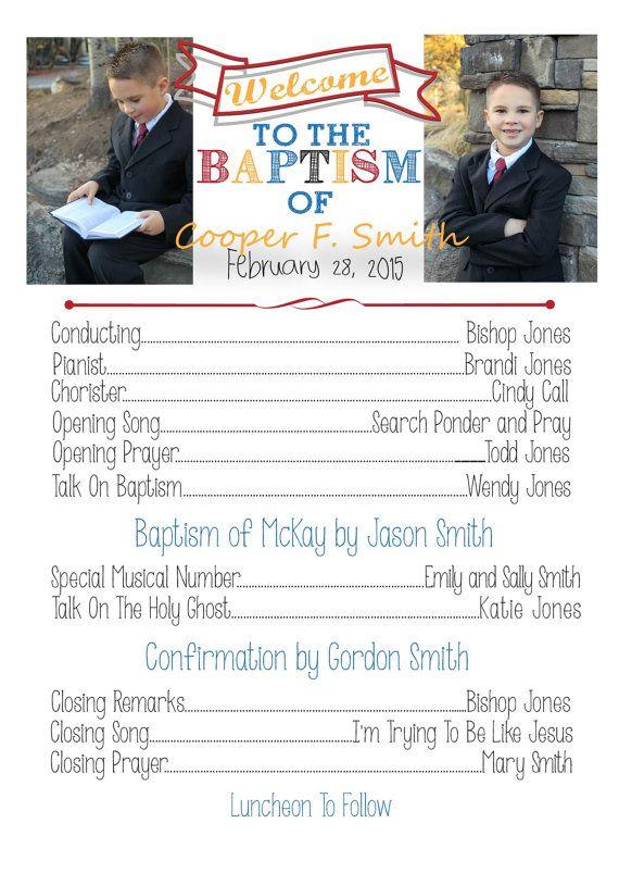 Baptism Program by 3dkdesign on Etsy