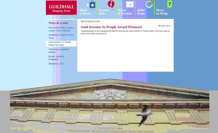 Guildhall Shopping Exeter achieves Investors in People Gold