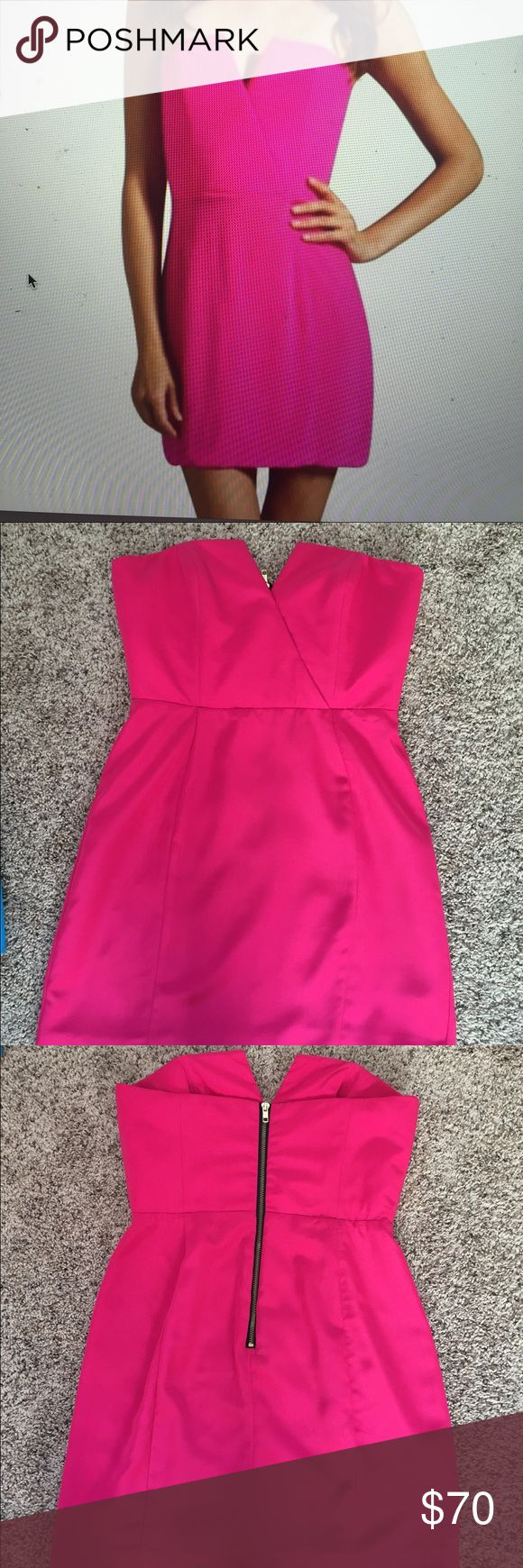 NAVEN Bombshell Dress Strapless cute hot pink going out dress, great condition worn once Naven Dresses Strapless