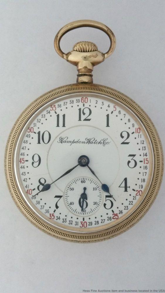 c.1910 : Hampden 23j Special Railway Railroad Montgomery Dial Running Strong Pocket Watch #Hampden